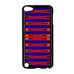 Bright Blue Red Yellow Mod Abstract Apple Ipod Touch 5 Case (black) by BrightVibesDesign