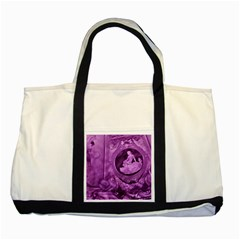 Vintage Purple Lady Cameo Two Tone Tote Bag by BrightVibesDesign