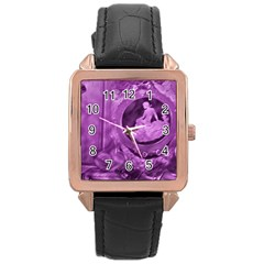 Vintage Purple Lady Cameo Rose Gold Leather Watch  by BrightVibesDesign