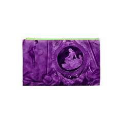 Vintage Purple Lady Cameo Cosmetic Bag (xs) by BrightVibesDesign