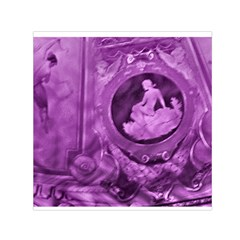 Vintage Purple Lady Cameo Small Satin Scarf (square) by BrightVibesDesign