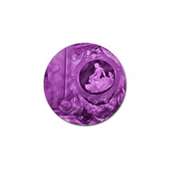 Vintage Purple Lady Cameo Golf Ball Marker (10 Pack) by BrightVibesDesign