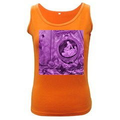 Vintage Purple Lady Cameo Women s Dark Tank Top by BrightVibesDesign
