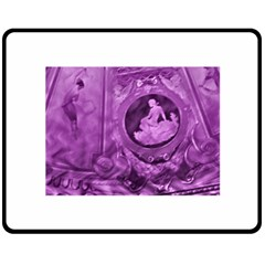 Vintage Purple Lady Cameo Double Sided Fleece Blanket (medium)  by BrightVibesDesign