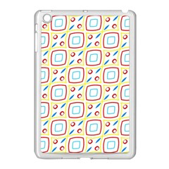 Squares rhombus and circles pattern  			Apple iPad Mini Case (White) by LalyLauraFLM