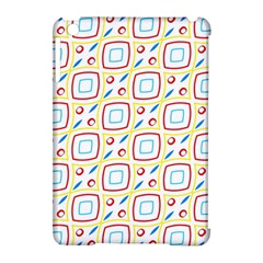 Squares Rhombus And Circles Pattern  apple Ipad Mini Hardshell Case (compatible With Smart Cover) by LalyLauraFLM
