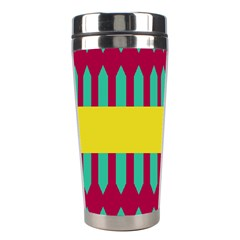 Stripes And Other Shapes   Stainless Steel Travel Tumbler by LalyLauraFLM