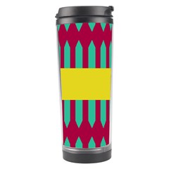 Stripes And Other Shapes   Travel Tumbler by LalyLauraFLM