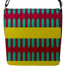 Stripes And Other Shapes   flap Closure Messenger Bag (s) by LalyLauraFLM