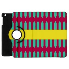 Stripes And Other Shapes   apple Ipad Mini Flip 360 Case by LalyLauraFLM