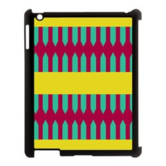 Stripes And Other Shapes   apple Ipad 3/4 Case (black) by LalyLauraFLM