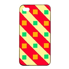 Squares And Stripes    			apple Iphone 4/4s Seamless Case (black) by LalyLauraFLM
