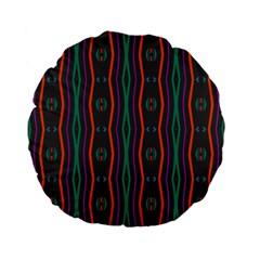 Wavy Chains Pattern     standard 15  Premium Flano Round Cushion by LalyLauraFLM