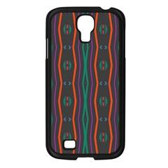 Wavy Chains Pattern     samsung Galaxy S4 I9500/ I9505 Case (black) by LalyLauraFLM