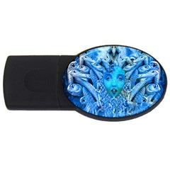Medusa Metamorphosis Usb Flash Drive Oval (2 Gb)  by icarusismartdesigns