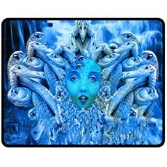 Medusa Metamorphosis Fleece Blanket (medium)  by icarusismartdesigns