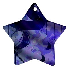 Blue Theater Drama Comedy Masks Star Ornament (two Sides)  by BrightVibesDesign