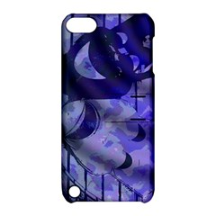 Blue Theater Drama Comedy Masks Apple Ipod Touch 5 Hardshell Case With Stand by BrightVibesDesign