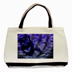 Blue Comedy Drama Theater Masks Basic Tote Bag (two Sides) by BrightVibesDesign