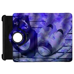 Blue Comedy Drama Theater Masks Kindle Fire Hd Flip 360 Case by BrightVibesDesign