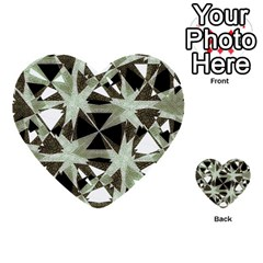 Modern Camo Print Multi Purpose Cards (heart)  by dflcprints