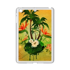Tropical Design With Flowers And Palm Trees Ipad Mini 2 Enamel Coated Cases by FantasyWorld7