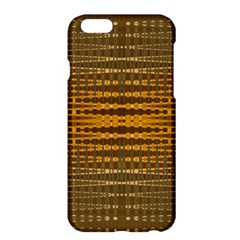 Yellow Gold Khaki Glow Pattern Apple Iphone 6 Plus/6s Plus Hardshell Case by BrightVibesDesign