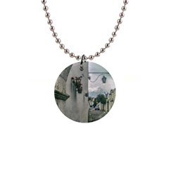 Colonial Street Of Arequipa City Peru Button Necklaces by dflcprints