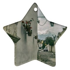 Colonial Street Of Arequipa City Peru Star Ornament (two Sides)  by dflcprints