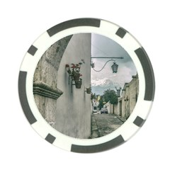 Colonial Street Of Arequipa City Peru Poker Chip Card Guards (10 Pack)  by dflcprints