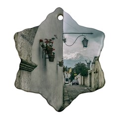 Colonial Street Of Arequipa City Peru Snowflake Ornament (2 Side) by dflcprints