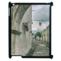 Colonial Street Of Arequipa City Peru Apple Ipad 2 Case (black) by dflcprints