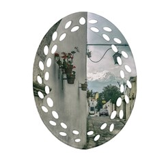 Colonial Street Of Arequipa City Peru Oval Filigree Ornament (2 Side)  by dflcprints