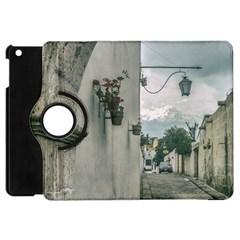 Colonial Street Of Arequipa City Peru Apple Ipad Mini Flip 360 Case by dflcprints