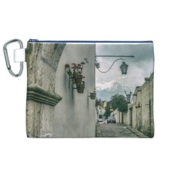 Colonial Street Of Arequipa City Peru Canvas Cosmetic Bag (xl)  by dflcprints