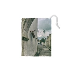 Colonial Street Of Arequipa City Peru Drawstring Pouches (xs)  by dflcprints