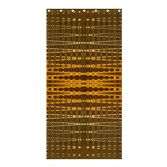 Yellow Gold Khaki Glow Pattern Shower Curtain 36  X 72  (stall)  by BrightVibesDesign
