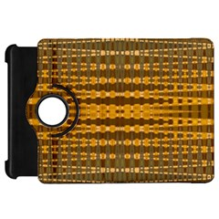 Yellow Gold Khaki Glow Pattern Kindle Fire Hd Flip 360 Case by BrightVibesDesign