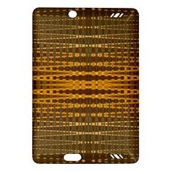 Yellow Gold Khaki Glow Pattern Amazon Kindle Fire HD (2013) Hardshell Case by BrightVibesDesign