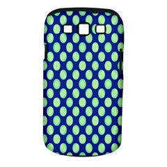 Mod Retro Green Circles On Blue Samsung Galaxy S Iii Classic Hardshell Case (pc+silicone) by BrightVibesDesign