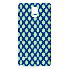 Mod Retro Green Circles On Blue Galaxy Note 4 Back Case by BrightVibesDesign