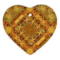 Digital Abstract Geometric Collage Ornament (heart)  by dflcprints