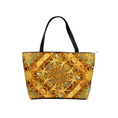 Digital Abstract Geometric Collage Shoulder Handbags by dflcprints