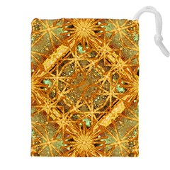 Digital Abstract Geometric Collage Drawstring Pouches (xxl) by dflcprints