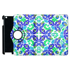 Stylized Floral Check Seamless Pattern Apple Ipad 2 Flip 360 Case by dflcprints