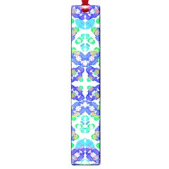 Stylized Floral Check Seamless Pattern Large Book Marks by dflcprints