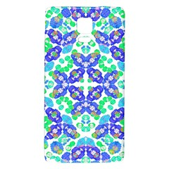 Stylized Floral Check Seamless Pattern Galaxy Note 4 Back Case by dflcprints