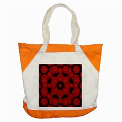 Stylized Floral Check Accent Tote Bag by dflcprints