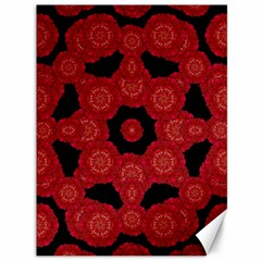 Stylized Floral Check Canvas 36  X 48   by dflcprints