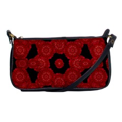 Stylized Floral Check Shoulder Clutch Bags by dflcprints